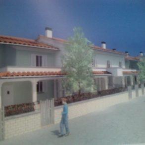Villa centrale di schiera con 3 camere e giardino classe A