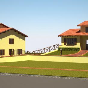 Villa singola nuova con bel giardino e ampia taverna