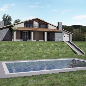 Villa singola con ampio giardino sui 4 lati